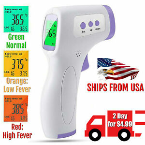 Forehead Thermometer Infared Digital Non contact Body Adult Temperature Fever Ir