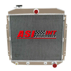 4 Row Aluminum Radiator For 1953 1956 Ford Pickup Truck F100 F250 F350 Chevy V8