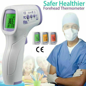 Ce Medical Grade Non contact Infrared Forehead Thermometer Lcd Laser Ir Usa Ship
