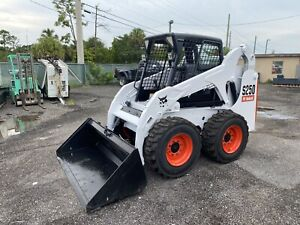 2006 Bobcat S250 Skid Steer Open Cab Floating Tires Power Bobtach Aux Hy