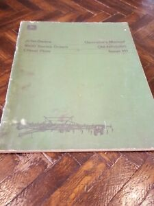 John Deere 1600 Series Drawn Chisel Plow Operator s Manual