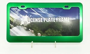 Green Anodized Aluminum License Plate Frame Usa Standard Size 12 X 6 Plate