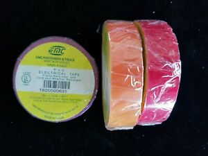 Pack Of 3 Multi color Electrical Tape 3 4in X60ft 7mil Ul listed Violet Red Blue