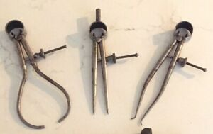 Vintage Antique Round Leg 4 5 Spring Calipers Inside Outside