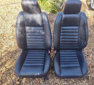 2005 2009 Ford Mustang Front Seat Set Leather Power Heated Oem