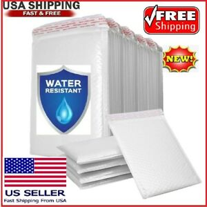 10 25 50 And 100 Poly Bubble Mailers Padded Envelopes 5x6 5x7 6x9 7x10 8 5x11