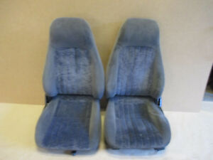 00 02 Camaro Rs Ss Z28 Ebony Cloth Seat Seats Set 0927 1