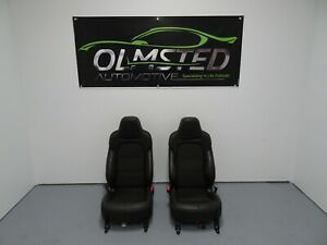 05 13 Corvette C6 Centennial Edition Left Right Suede Leather Seats Red Stitch