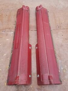 Oem 1961 1963 Lincoln Continental Lh And Rh Rear Door Sill Pair Red