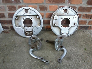 1939 1941 Ford Chrome Front Spindles Backing Plates Hardware Grease Baffles