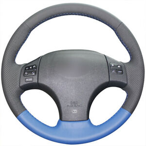 Diy Black Blue Leather Car Steering Wheel Cover For Lexus Is250