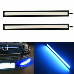 2pc Blue Waterproof 17cm Cob Car Led Lights 12v For Drl Fog Light Driving Lamp