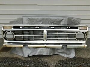Ford Factory Grille Truck F150 F250 F350 Fits 1973 74 75 76 77