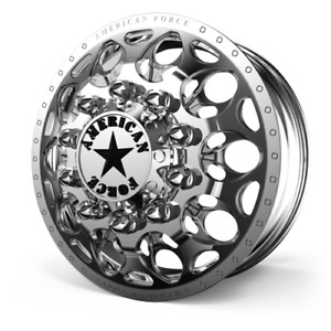 24 0x8 25 American Force Dually Truck Wheels In Polish H13 Carnage