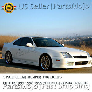 Fog Lights For 1997 1998 1999 2000 2001 Honda Prelude Pairs Of Clear Lens Lamps