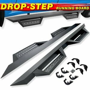 Nerf Bar For 07 18 Silverado sierra Crew Cab 4 5 Black Running Board Side Step