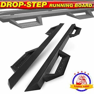 Nerf Bar For 07 19 Silverado sierra Crew Cab 4 5 Black Running Board Side Step