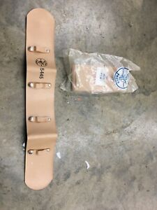 2 Klein Tools 5445 Lineman Climbing Safety Belts Pad Leather