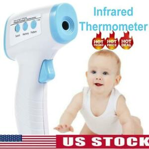 No contact Touch Ir Infrared Digital Lcd Thermometer Head Forehead Baby Adult
