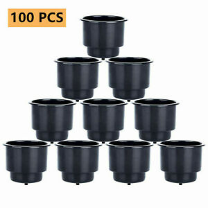100 Pcs Plastic Recessed Cup Drink Holder With Drain For Boat Marine Car Table