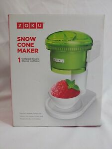 New Zoku Snow Cone Maker Compact Electric Shaved Ice Maker