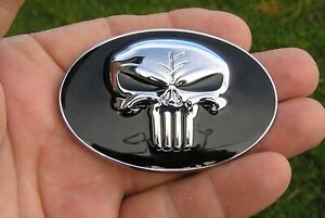 Punisher Fits 2 3 4 Chrysler 300c Grill Replacement 70mm Car Emblem Badge