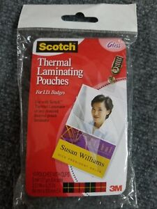 Scotch Thermal Laminating Pouches 2 X 4 10 pack