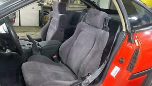 91 96 Dodge Stealth Cloth Seat Set front rear Grey 05h