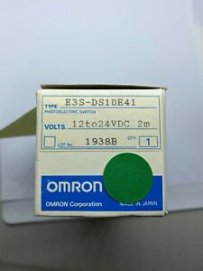 Omron E3s ds10e41 Photoelectric Switch Sensor Range 100mm Output Npn