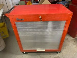 Vintage Snap On Toolbox Tool Box Cabinet Chest Kra 300b Rolla Bench 1963 Keys