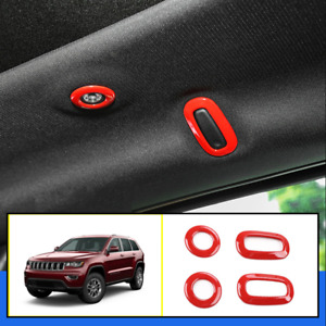 Red Interior Rear Reading Lamp Light Cover Trim For Jeep Grand Cherokee 11 2020