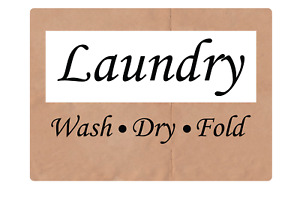 Laundry wash dry fold Adhesive Vinyl Sign Decal