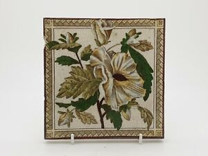 Victorian Floral Aesthetic Movement Print Tint Tile 12