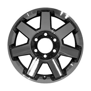 75154 Refinished Toyota Fj Cruiser 2014 2014 17 Inch Wheel Machined W Black