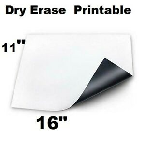 10 Pc Magnetic Dry Erase White Board 16 X 11 For Fridge Cars Printable
