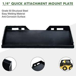 1 4 Quick Attachment Mount Plate For Kubota Bobcat Skidsteer Trailer Adapter
