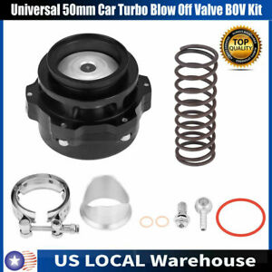 New Universal 50mm 2in Car Turbo Blow Off Valve Bov Kit With Adapter Spring Us