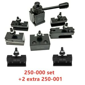 Oxa Wedge fx 250 000 Tool Post Holder Set 2 Extra 250 001 For Lathe Up To 8