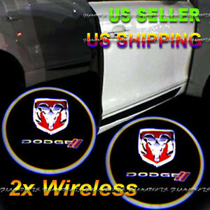 2x Wireless Ghost Shadow Laser Projector Led Light Courtesy Door Step Dodge