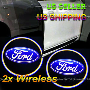 2x Wireless Ghost Shadow Laser Projector Led Light Courtesy Door Step Ford