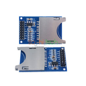 Blue Sd Card Slot Socket Read writer Reader Spi Module For Arduino Arm Mcu