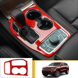 For Jeep Grand Cherokee 16 2020 Red Plastic Car Interior Gear Panel Cover Trim