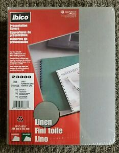 Ibico 100 Linen Presentation Covers 11 1 4 X 8 3 4 Legal Business Report 23333
