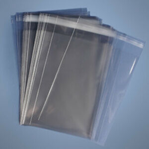 20x30 Clear Resealable Self Adhesive Seal Cello Lip Tape Plastic Bags 1 6 Mil