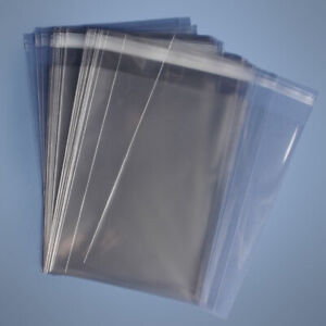 21x25 Clear Resealable Self Adhesive Seal Cello Lip Tape Plastic Bags 1 6 Mil