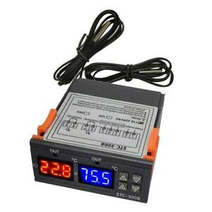 Stc 3008 2 stage Digital Temperature Controller Outlet Thermostat W Sensor 2