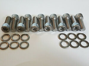 Small Block Chevy Stainless Steel Intake Manifold Bolts 283 302 327 350 400