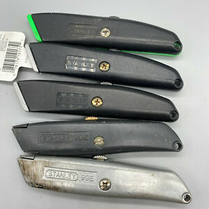 Stanley 99e Usa Retractable Blade Utility Knife Black Green Lot Of 5