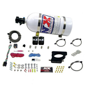 Nitrous Express Gm Ls 78mm 3 bolt Nitrous Plate Kit 50 350hp W 10lb Bottle