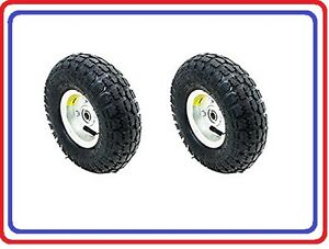 Air Tire 10 For Dolly Cart Wagon 2pc Set Industrial Quality free Shipping
